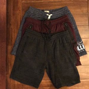 Hollister and America Eagle drawstring shorts